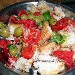 La panzanella / bread soaked