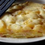 Lasagne di patate prosciutto e fagiolini