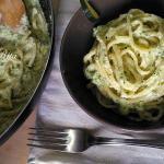 Linguine con ricotta e zucchine
