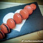 macarons con ganache al cioccolato fondente piccante