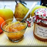 Marmellata di mela pera e arancia con pepe rosa