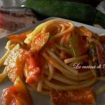 Matriciana di zucchine / matriciana pasta with zucchini