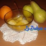 Mela e pera cotte nel succo d'arancia