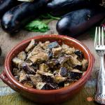Melanzane a funghetto gratinate al forno