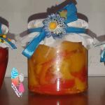 Melanzane,peperoni e peperoncini sott'olio