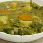 Minestra con indivia riccia e scarola a modo mio - (Zuppa o minestra. Sai la differenza ?)