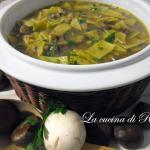 Minestra di funghi e castagne / mushroom and chestnut soup