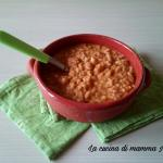 minestra di riso, verza e fagioli con pepe rosso calabrese
