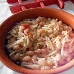 Minestra di spaghettini e cannellini