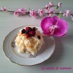 mini mimosa con crema al cioccolato bianco e frutti di bosco