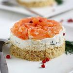 minicheesecake ricotta e salmone