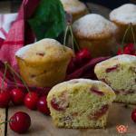 muffin alle ciliegie senza burro