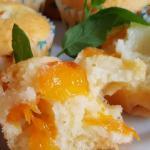 Muffin con cocco e albicocche, al olio