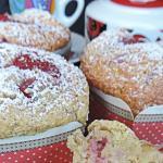 muffin ricotta cocco e fragole (senza burro)