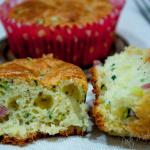 Muffins salati allo yogurt con zucchine