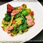 Orecchiette gluten free con cime di rapa, salsiccia e cruschi