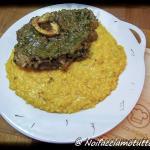 ossibuchi alla milanese con gremolada e risotto allo zafferano