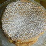 pan di spagna con crema e fragole