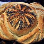 Pane decorato a pasta dura
