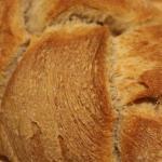 Pane intrecciato integrale con lievito madre