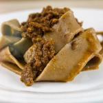 Pappardelle farina di castagne e ragu' d'anatra