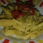 pasta con crema di zucchine e gorgonzola
