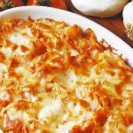 Pasta con mozzarella al forno