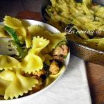 Pasta con zafferano, salsiccia e zucchine