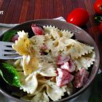 Pasta fredda con ricotta, basilico e pomodorini
