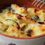 Pasta gratinata con zucchine e stracchino