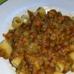 Pasta lenticchie e salsiccia