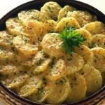 Patate al gratin con cipolle