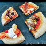 Pizza integrale a lunga lievitazione