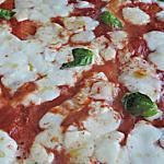 pizza margherita al forno con mozzarella di bufala
