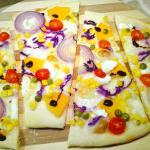 Pizza vegetariana con farina tipo1