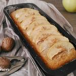 plum-cake con mele e noci ( ricetta senza glutine e senza latte)