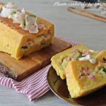 plum-cake di patate ripieno di zucchine, prosciutto e provola