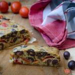 plumcake salato con pomodorini e olive nere