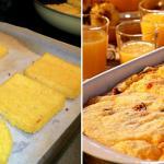 Polenta al prosciutto cotto gratinata in forno