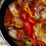 """Pollo con i peperoni: il pollo della """"Sora Lella"""""""