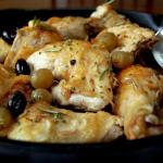 Pollo in padella all'uva
