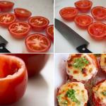 Pomodori farciti con mozzarella e prosciutto