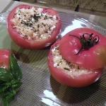 Pomodori ripieni riso e gamberetti