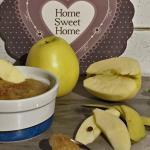 Purè di mela con zenzero e cannella