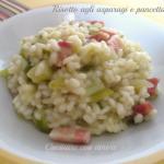 Risotto agli asparagi e pancetta
