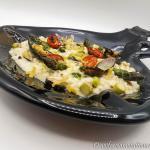 Risotto ai frutti di mare con asparagi e stracciatella