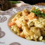 risotto carciofi e gamberetti