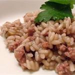 risotto  con la salsiccia (bimby)
