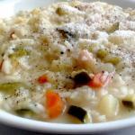 risotto con minestrone di verdure