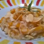 risotto con zucca e mandorle